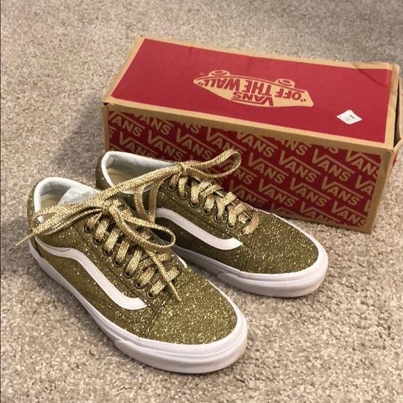 Vans Old Skool Lurex Glitter Gold. M 5b82fd905fef375138d992b1 20ed11976
